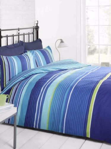 Cambridge Stripe blue, King Duvet, Signature Home By Rapport